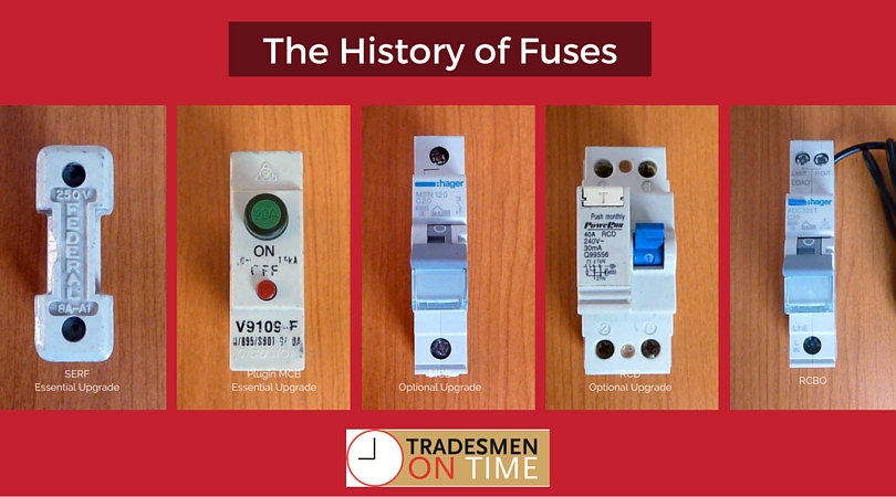 The History of Fuses 1 you need to know about upgrading a fuse box fuse box cost at bakdesigns.co