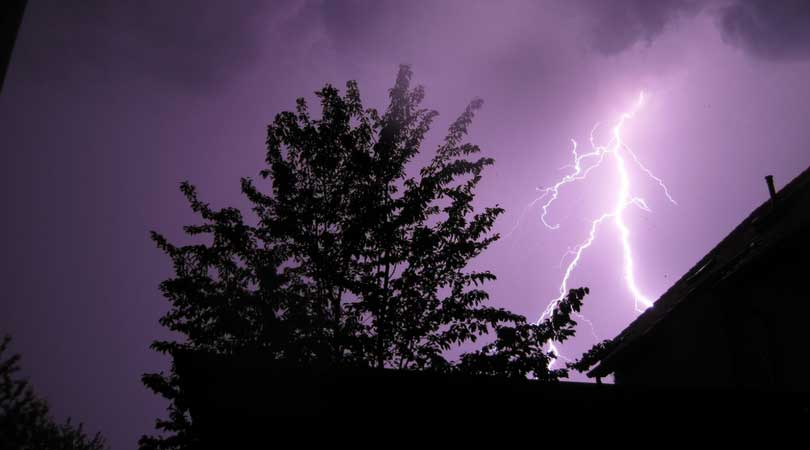 Should You Shower During a Thunderstorm?